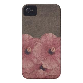 Hellrosa Brown-Blumen II Case-Mate iPhone 4 Hülle