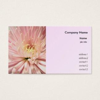 hellrosa Chrysantheme-Blume Visitenkarte