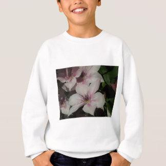 Hellrosa Clematis-Blüte Sweatshirt
