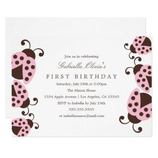 Hellrosa Geburtstags-Party Einladung der