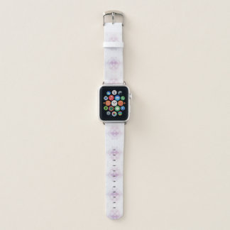 Hellrosa geometrisches Muster Apple Watch Armband