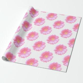 Hellrosa Gerberagänseblümchen Geschenkpapier