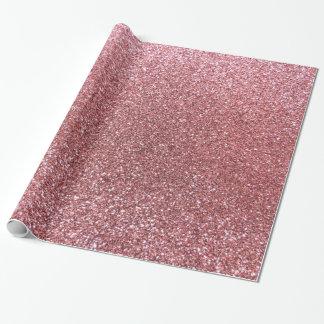 Hellrosa Glitter Geschenkpapier