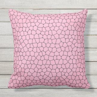 Hellrosa Mosaik-Muster-Wurfs-Kissen Kissen