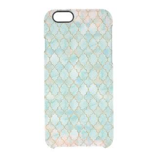 Hellrosa und Aqua Maroccan Muster Durchsichtige iPhone 6/6S Hülle