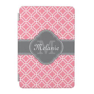 Hellrosa weißes marokkanisches Muster-dunkelgraues iPad Mini Hülle