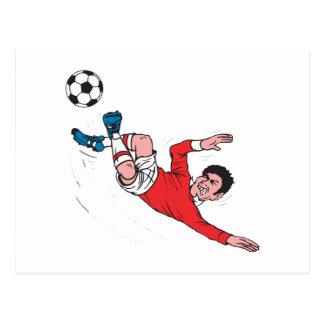 helluva Fußballtritt Postkarte
