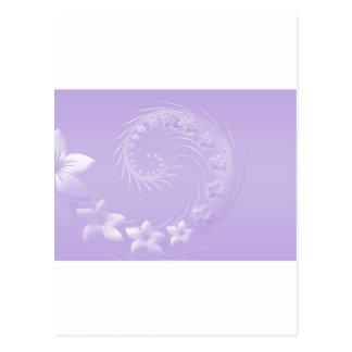 Hellviolette abstrakte Blumen Postkarte