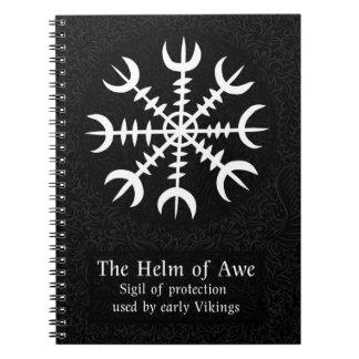 Helm des isländischen magischen Zeichens der Spiral Notizblock