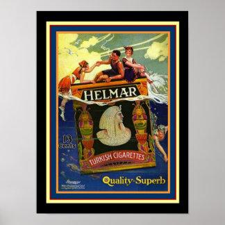 Helmar türkisches Zigaretten-Plakat 12 x 16 Poster