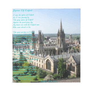 Helme von Oxford-Gedicht vorbei: Winifried Mabel Notizblock