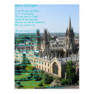 Helme von Oxford-Gedicht vorbei: Winifried Mabel Postkarte