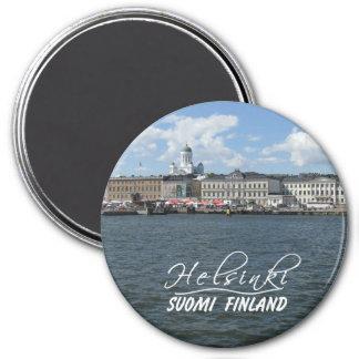 Helsinki-Hafenmagnet Runder Magnet 7,6 Cm