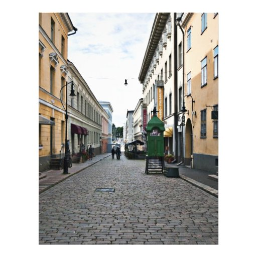 Helsinki-Stadtstraße Flyerdesign
