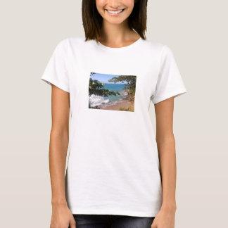 Hemd mit Landschaft des Strandes T-Shirt