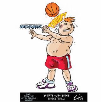 Hemden gegen Haut-Basketball Foto Ausschnitte