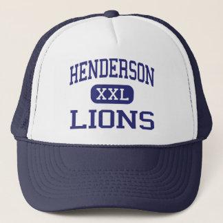 Henderson - Löwen - Highschool - Henderson Texas Truckerkappe