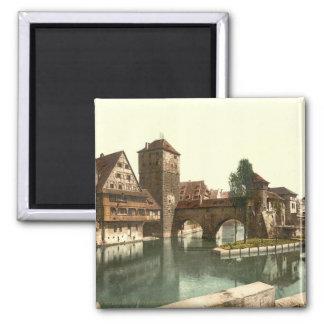 Henker-Brücke, Nürnberg, Bayern, Deutschland Quadratischer Magnet