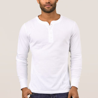 Henley die Leinwand der Männer langes Hülsen-Shirt Shirts