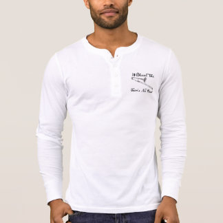 Henley die Leinwand der Trombone-Männer langes T-Shirt