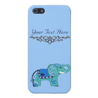 Hennastrauch-Elefant (blau/hellblau) iPhone 5 Etuis