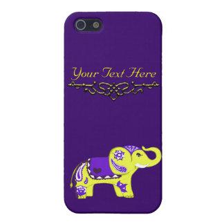 Hennastrauch-Elefant (Gelb/Lila) Hülle Fürs iPhone 5