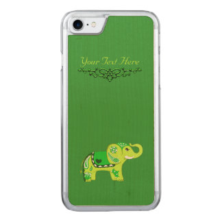 Hennastrauch-Elefant (Grün/Limones Grün) Carved iPhone 8/7 Hülle