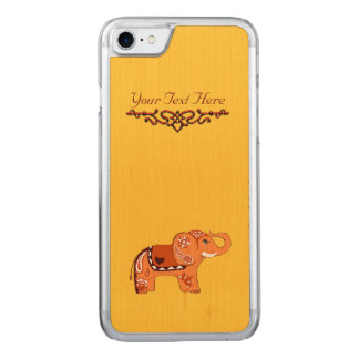 Hennastrauch-Elefant (orange/Rot) Carved iPhone 7 Hülle