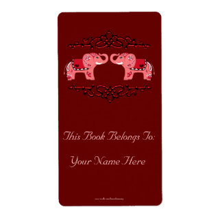 Hennastrauch-Elefant-(rot/Rosa) Buchzeichen