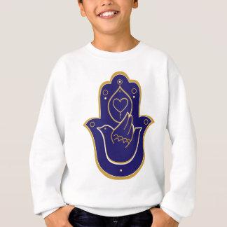 Hennastrauch-Friedens- u. Liebe Hamsa Blau Sweatshirt