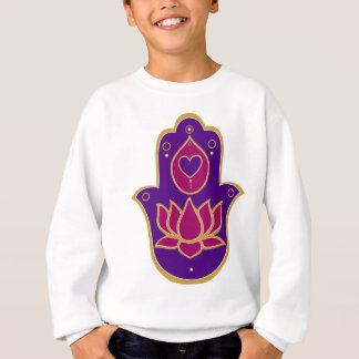 Hennastrauch Hamsa Lotus Rosa Sweatshirt