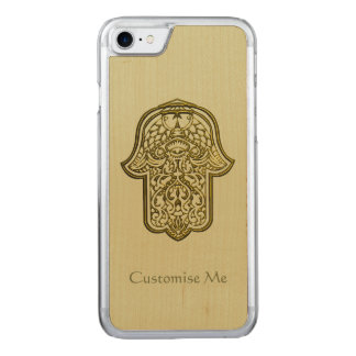 Hennastrauch-Hand von Hamsa (golden) Carved iPhone 7 Hülle