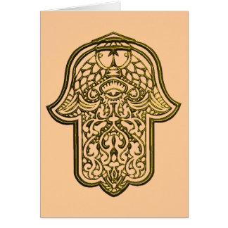 Hennastrauch-Hand von Hamsa (golden) Karte