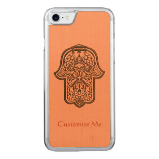 Hennastrauch-Hand von Hamsa (orange) Carved iPhone 8/7 Hülle