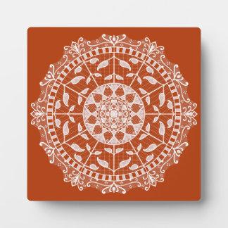 Hennastrauch-Mandala Fotoplatte