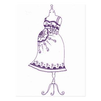 Hennastrauch-schwangerer Bauch Postkarte