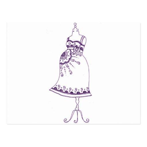 Hennastrauch-schwangerer Bauch Postkarten