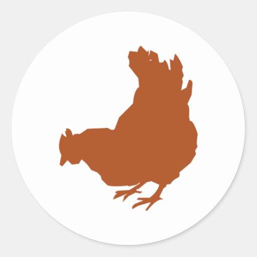Henne [Huhn, Bauer, Bio Eier] Runde Aufkleber