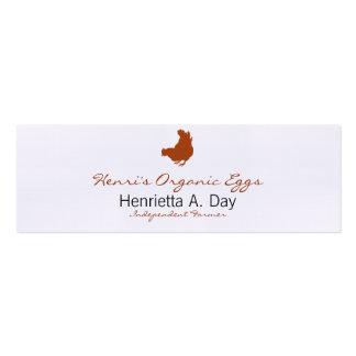 Henne [Huhn, Bauer, Bio Eier] Mini-Visitenkarten