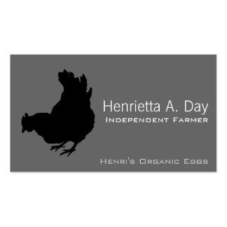 Henne [Huhn, Bauer, Bio Eier] Visitenkarten