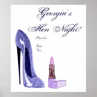Henne-Nachtplakat Poster
