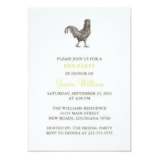 Henne-Party 12,7 X 17,8 Cm Einladungskarte