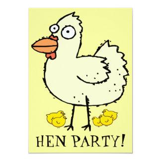 Henne-Party! Küken und Hennen Bachelorette laden 12,7 X 17,8 Cm Einladungskarte