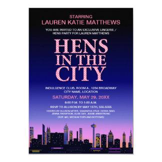 Hennen/Wäsche-Film-Plakat-Party 12,7 X 17,8 Cm Einladungskarte