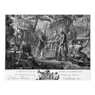 Henri IV versöhnender Frederick William II Postkarte