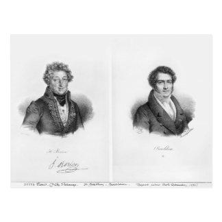 Henri Montan Berton und Francois Adrien Postkarte