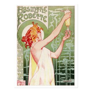 Henri-Privat-Livemont. Wermut Robette 1896 Postkarte