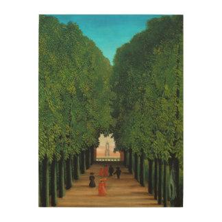 Henri Rousseau, Allee im Park an der Heilig-Wolke Holzdruck