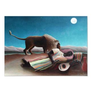 Henri Rousseau das schlafende Sinti und Roma Karte