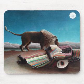 Henri Rousseau das schlafende Sinti und Roma Mousepad